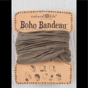 Natural Life Boho Headband Bandeau Brown
